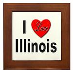 I Love Illinois Framed Tile