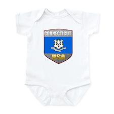 Connecticut USA Crest Infant Bodysuit