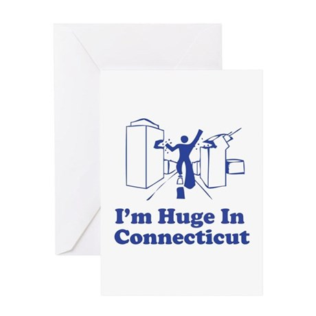 I'm Huge in Connecticut Greeting Card