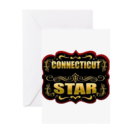 Connecticut Star Gold Badge S Greeting Card