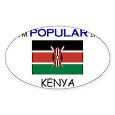 I'm Popular In KENYA Oval Decal