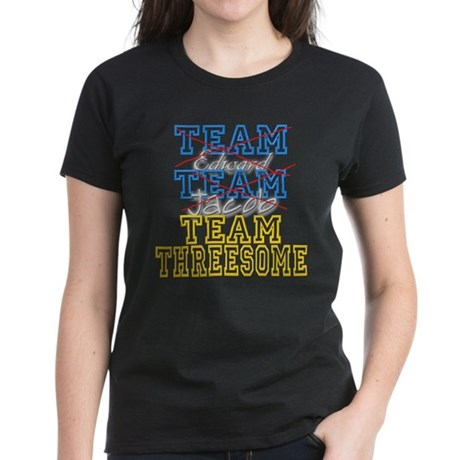 Twilight Saga Funny Team Thre Women's Dark T-Shirt