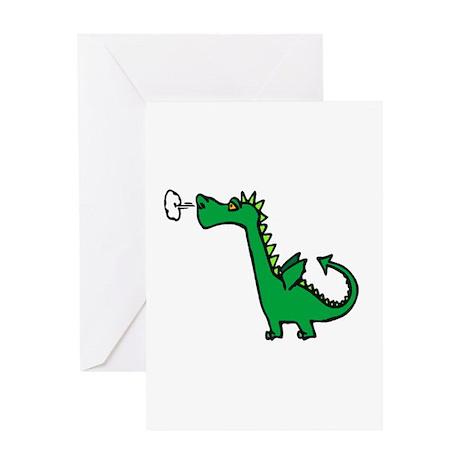 Puff Dragon Greeting Card
