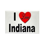 I Love Indiana Rectangle Magnet (10 pack)
