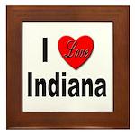 I Love Indiana Framed Tile