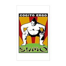 Cogito Ergo Sumo Rectangle Decal