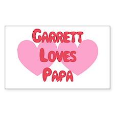 Garrett Loves Papa Rectangle Decal