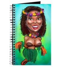 Cute Hula dancer Journal