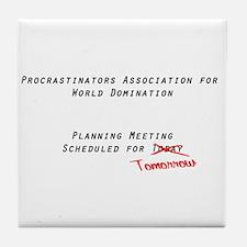 World Procrastination Tile Coaster