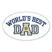 World's Best Dad Oval Decal