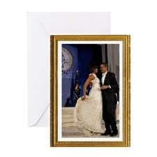 Obamas at the Inaugural Ball Greeting Card