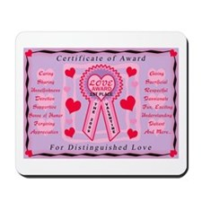 LOVE AWARD Mousepad