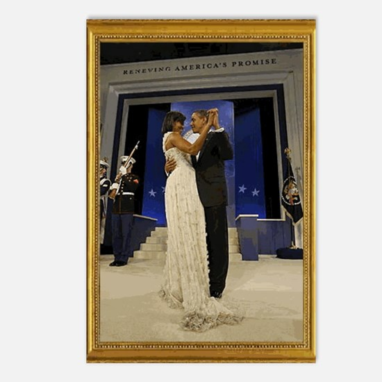 Obamas at the Inaugural B Postcards (Package of 8)