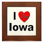 I Love Iowa Framed Tile