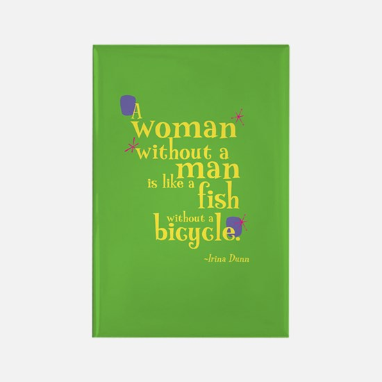 Fun Rectangle Magnet: Woman without man