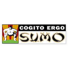 Cogito Ergo Sumo Bumper Bumper Sticker