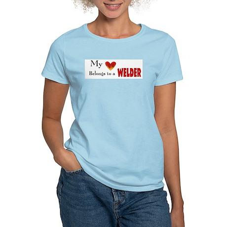 My Heart belongs to a welder Women's Light T-Shirt