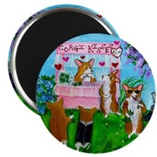 "Corgi Kisses 2.25"" Magnet (100 pack)"