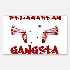 Delawarean Gangsta Rectangle Decal