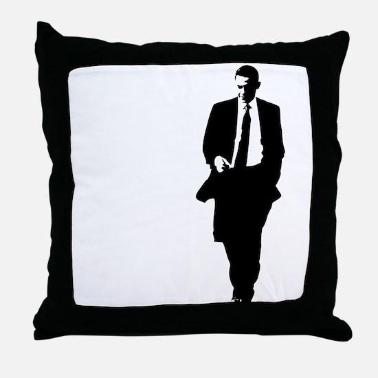 Big Obama Silhouette Throw Pillow