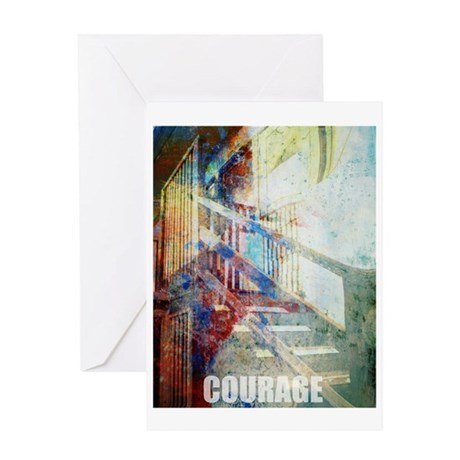 """""""Courage"""" serenity & recovery Greeti"""