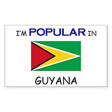 I'm Popular In GUYANA Rectangle Decal