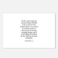 LEVITICUS  5:2 Postcards (Package of 8)