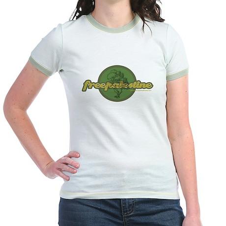 FREE PALESTINE Jr. Ringer T-Shirt