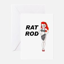 Rat Rod Red Greeting Cards (Pk of 10)