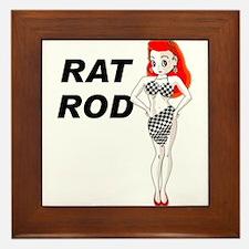Rat Rod Red Framed Tile