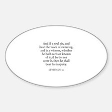 LEVITICUS 5:1 Oval Decal