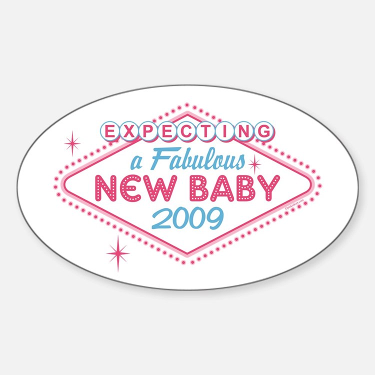 Las Vegas Expecting '09 Oval Decal