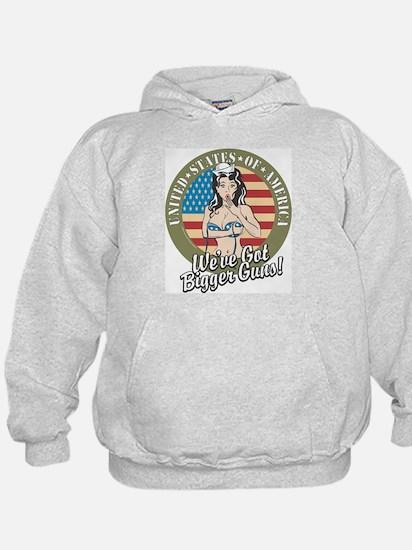 Patriotic Pinup Girl Hoodie
