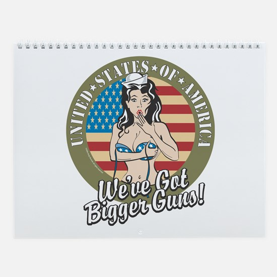Patriotic Pinup Girl Wall Calendar