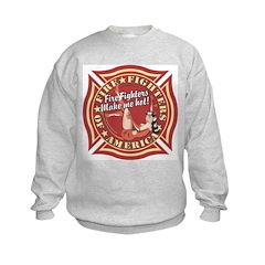 Patriotic Fire Fighter Pinup Girl Sweatshirt