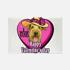 Airedale Terrier Valentines Rectangle Magnet (10 p