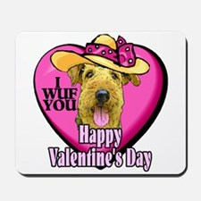 Airedale Terrier Valentines Mousepad