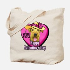 Airedale Terrier Valentines Tote Bag