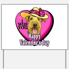 Airedale Terrier Valentines Yard Sign
