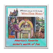 """""""1946 Wurlitzer Ad"""" Tile Coaster"""