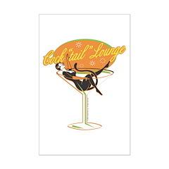 Bartender Cocktail Girl & Martini Posters