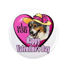 "Australian Shepherd Valentines 3.5"" Button (100 pa"