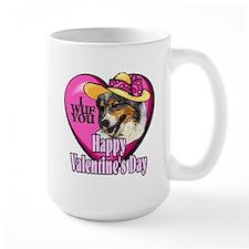 Australian Shepherd Valentines Mug