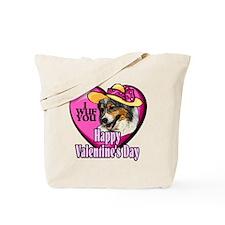 Australian Shepherd Valentines Tote Bag