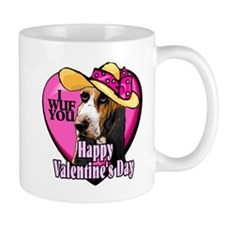 Basset Hound Valentines Mug
