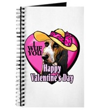 Basset Hound Valentines Journal