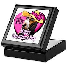 Basset Hound Valentines Keepsake Box