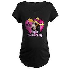 Basset Hound Valentines T-Shirt