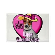 Jack Russell Valentines Rectangle Magnet (100 pack