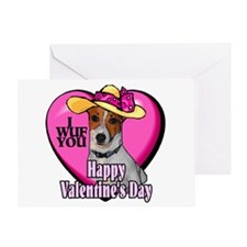 Jack Russell Valentines Greeting Card